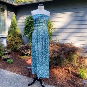Vanilla Bay Strapless Maxi Dress Mint Gray Large
